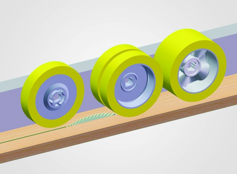 feeder wheels rollers